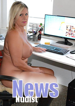 Life style of a home nudist, hot image women